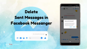How To Delete Sent Messages in Facebook Messenger?