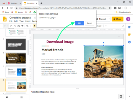 download media from google slides