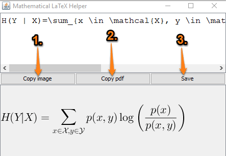 enter latex equation and save output as png and pdf