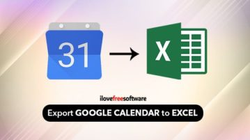 export google calendar to excel