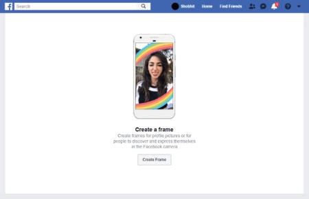 create Facebook camera frames