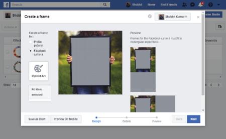 create facebook profile frames