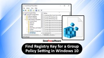 find same registry key and value for group policy settings in windows 10