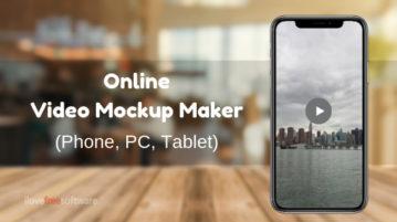 Free Online PC, Phone Video Mockup Maker: Live Mockups