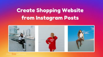 Create Shopping Website from Instagram Posts, with Shopping Links