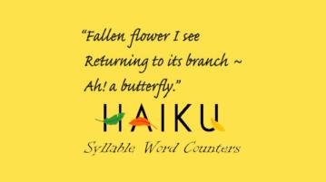 Online haiku syllable word counter