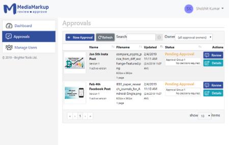 online PDF approval system for designers