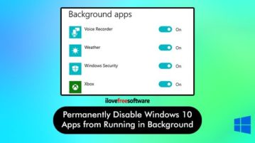 permanently disable windows 10 apps from running in the background