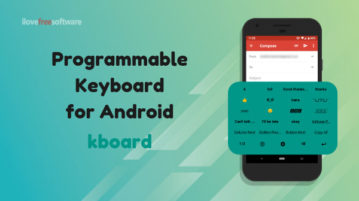 Free Programmable Keyboard for Android: kboard