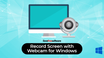record desktop screen with webcam