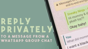 How To Reply Privately to WhatsApp Group Chat?