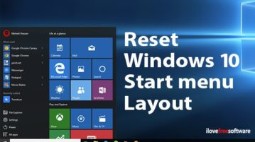 reset windows 10 start menu layout to default