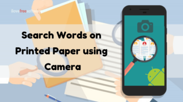 Free Android Apps to Search Words on Printed Paper using Camera