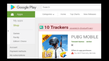 see number of trackers of an android app