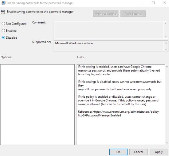 set disabled option