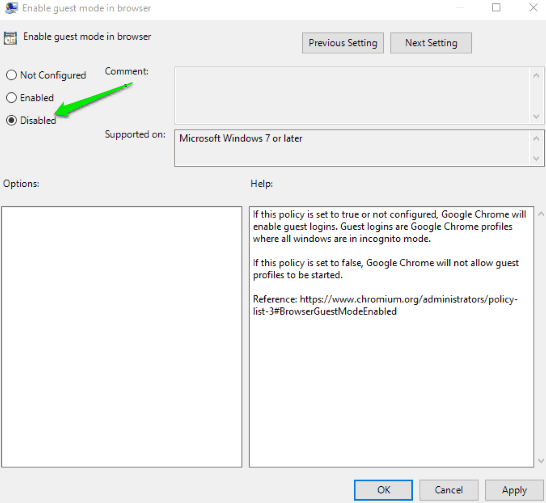 How to Configure Google Chrome Using Group Policy in Windows 10