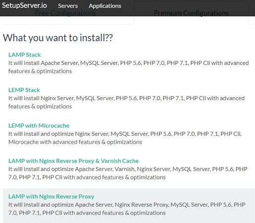 setup server actions