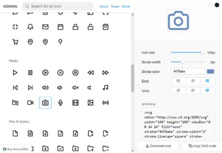 online svg icon generator