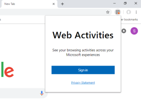 sync web activities with Windows Timeline