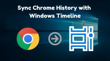How To Sync Chrome History with Windows Timeline?