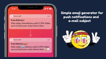 AI Based Emoji Generator for Push Notifications, Email Subject