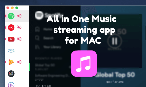 All in one music streaming MAC app for Amazon Music, Pandora, Spotify