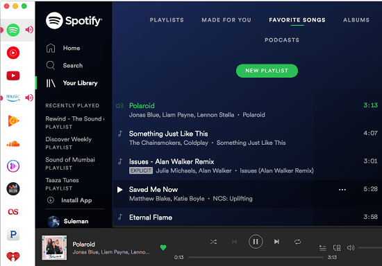 All in one music streaming MAC app