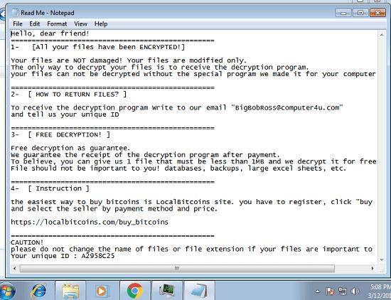 BigBobRoss ransom note