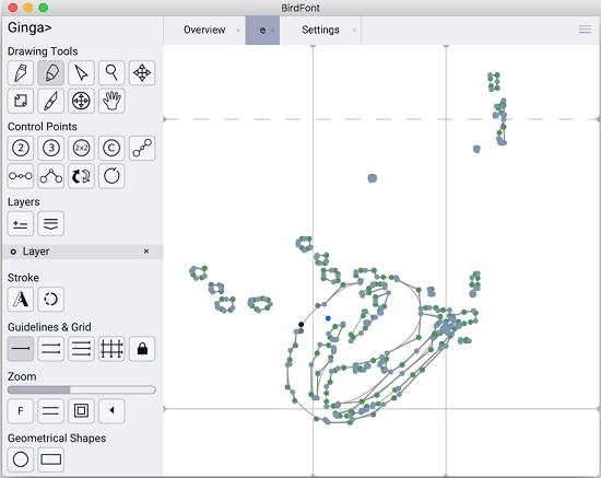 BirdFont mac font editor