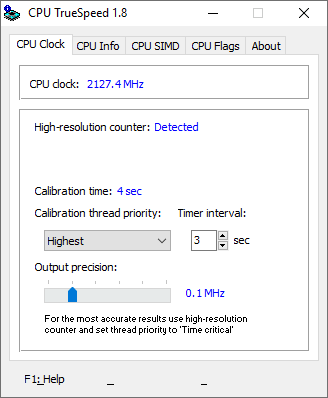 CPU True Speed in action