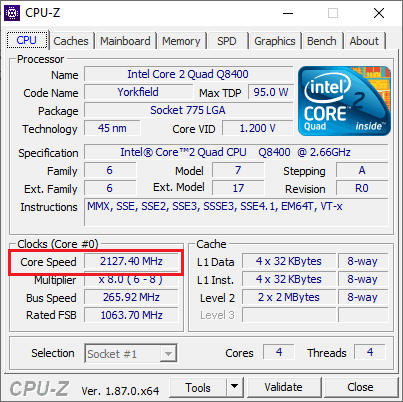 CPU-Z in Action