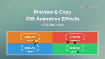 CSS Animation Effects Free: Preview and Copy on These Websites