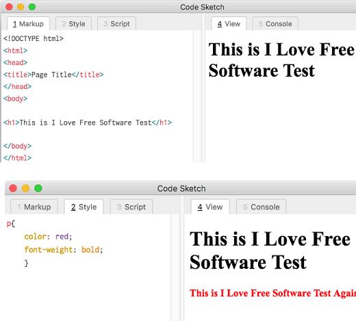 Code Sketch HTML CSS
