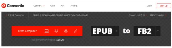 Convert EPUB to FB2 Online