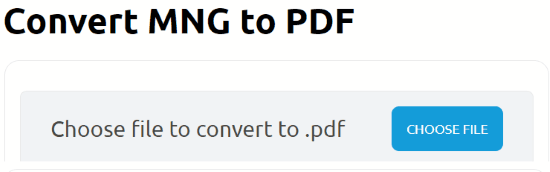 Convert MNG to PDF files online