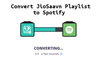 Convert Saavn Playlist to Spotify