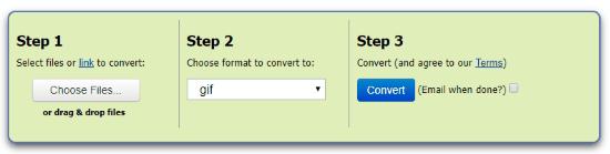 Convert WebP to GIF files online