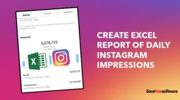 Create excel report of daily Instagram impressions