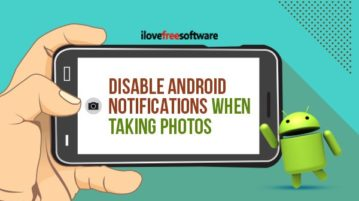 Disable Android notifications when taking photos