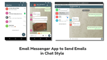 Email Messenger App to Send Emails in Chat Style