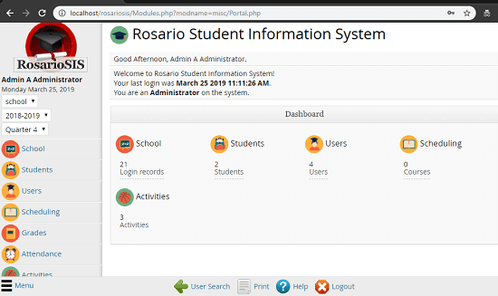 Free Self Hosted Student Information System for School Management