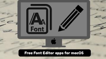 Free font editor mac apps