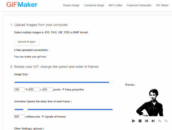 GIFMaker.org interface