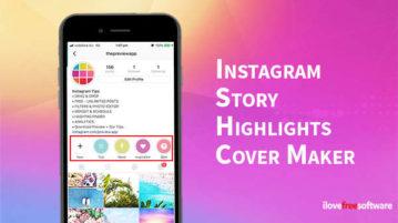Instagram Story Highlights Cover Maker