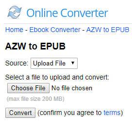 Online AZW3 to EPUB Converter