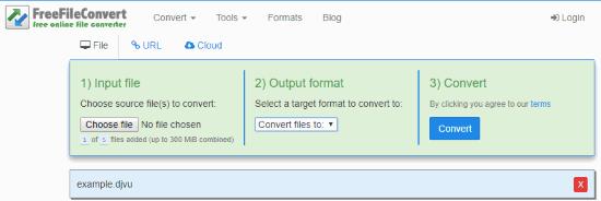 Online DJVU to MOBI file converter
