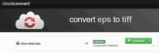 Online EPS to TIFF converter