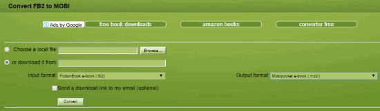 7 Online FB2 To MOBI Converter Free Websites