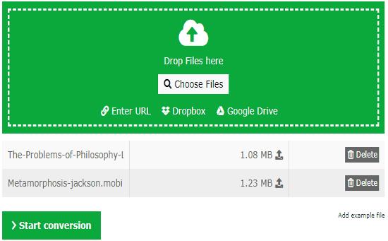 Online MOBI to EPUB Converter