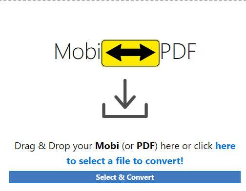 Online MOBI to PDF converter